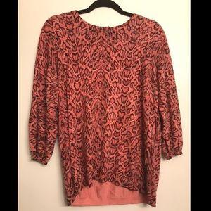 Dana Buchman Pink Leopard Sweater size XL